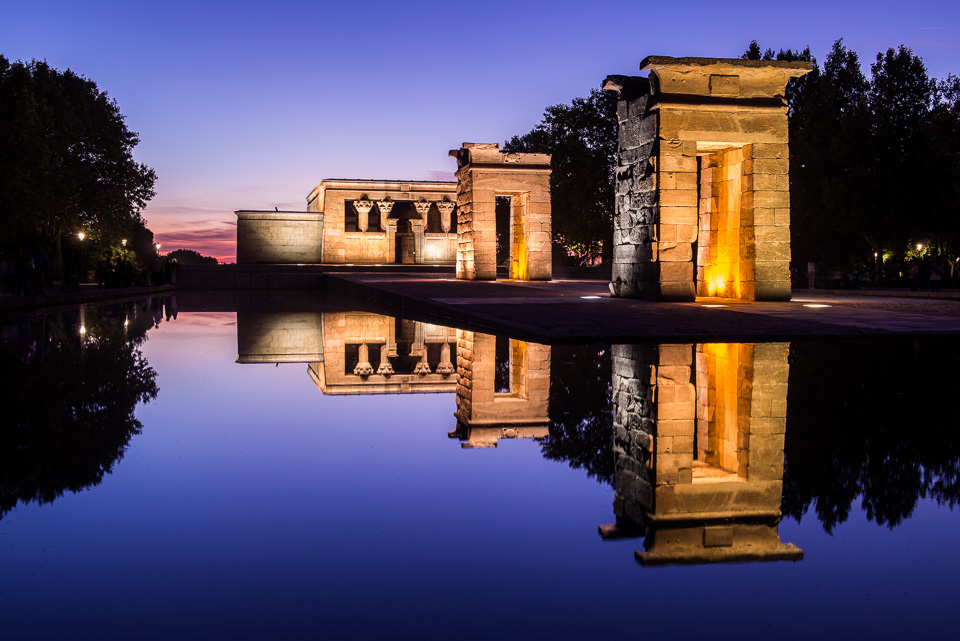 Templo de Debod in Madrid - Probably one of the best places to view the sunset in Madrid