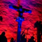 crucifixion in blue