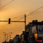sunset in old delhi