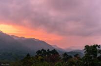 sunset over bwindi