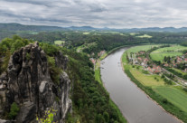 river elbe from bastei