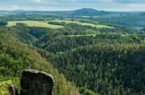 climbing in elbsandsteingebirge