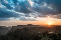 sunset over the saiq plateau